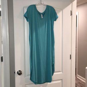 Zenana outfitters aqua dress size M